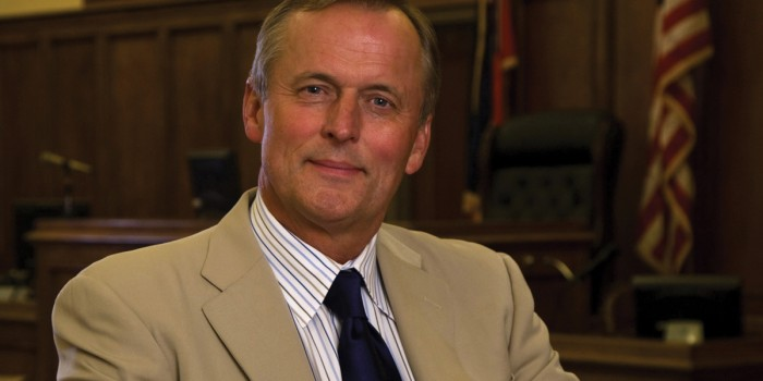 Photo of visiting speaker John Grisham