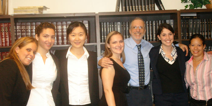 Photo of Florence with fellow interns and supervisor