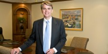 Photo of Adjunct Professor David Smith (JD '94) in his office at Kilpatrick Townsend