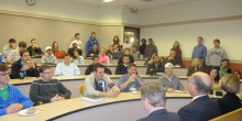Photo of students learning international law and practice