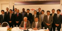Photo of Ryo Kawamura at Dow-UBE joint venture annocement