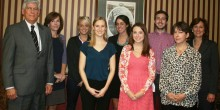 Group photo of attendees of a Child Advocacy Clinic sponsored lunch, Spring 2012