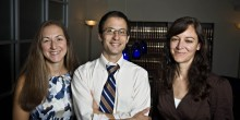 Susan Sullivan ('11), Earnest Bailey ('11) and Nora Ryan ('11) staff the Piedmont Law Center in downtown Winston-Salem.
