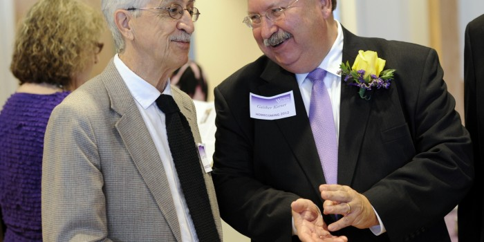 Photo of Gaither Keener and Curtis Wood at award ceremony in Western Carolina University