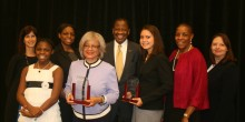 Group photo of alumni earning Women of Justice Awards