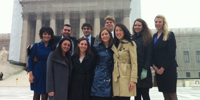 Group photo of Appellate Clinic Students Outside U.S. Supreme Court