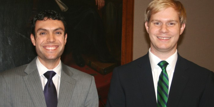 Photo of 2013 Zeliff Competitors Austen Irrobali ('14) and Justin May ('14)