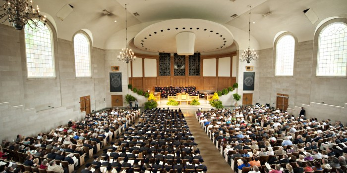 Photo of Hooding Ceremony in Wait Chapel