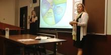Photo of Professors Liz Johnson and Barbara Lentz
