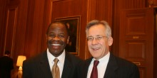 Photo of Dean Blake Morant with Jeff Minear at the U.S. Supreme Court in March 2013.