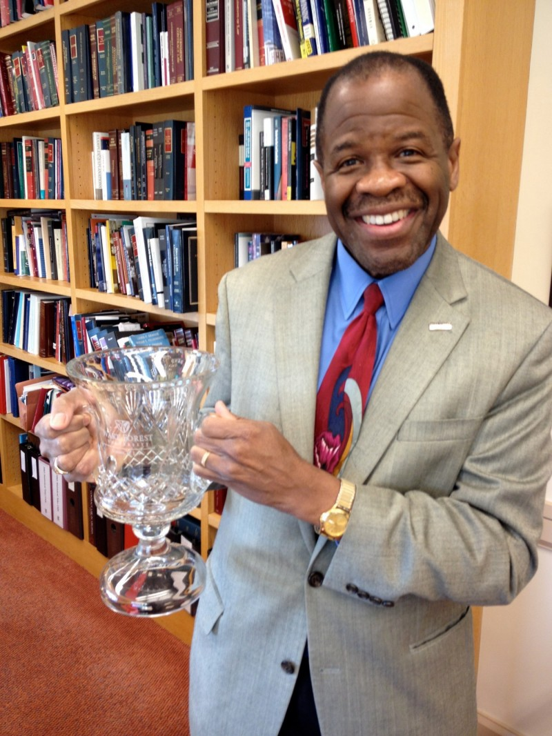 Dean Blake Morant will present the winning firm with this trophy.