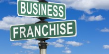 Photo of street signs titled 'Business' and 'Franchise'