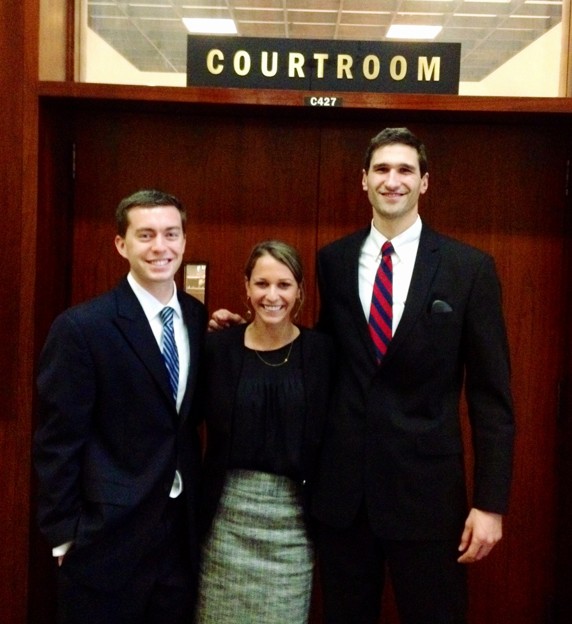 Three Wake Forest Law School students -- Tee Hassold ('15), Evan Leadem ('15) and Brooke Loucks ('15) -- are competing Feb. 26 -28 at the Mardis Gras Sports Law Moot Court Competition in New Orleans.