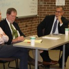 Professor Mark Rabil (right) particpates on panel on Thursday, March 6, organized by the student-run UNC Death Penalty Project.