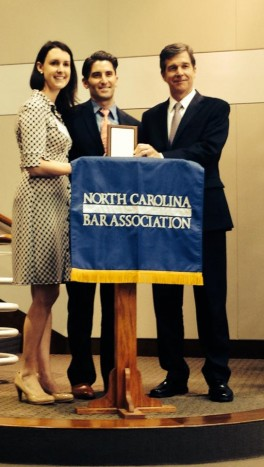 LFF Co-Chair, Cabell Clay, Caleb Holloway ('16), Attorney General Roy Cooper,