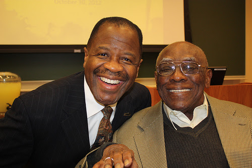 Group photo of Dean Blake Morant and David Wagner ('68)