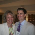 Interim Dean Suzanne Reynolds and Coleman Cowan ('95)