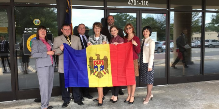 Group photo of members of the Moldova Congressional Delegation in Raleigh