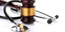 Photo of gavel and stethoscope