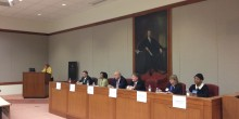 Interim Dean Suzanne Reynolds ('77) moderates N.C. Supreme Court Candidate Roundtable