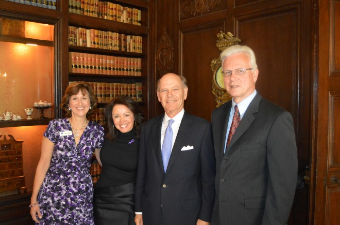 Director of Children's Law Center Iris Sunshine, Penny Spry ('82) and Bill Spry, CEO Family Serives Bob Feikema