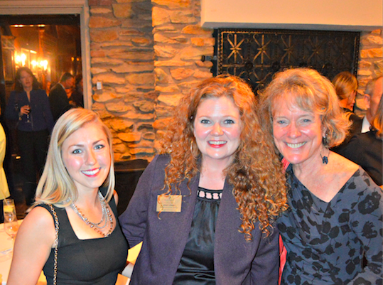 Aimee Durant (15), Stacy Jones, Interim Dean Suzanne Reynolds at Home Free 2014