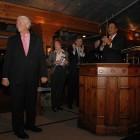 Photo of Allan B. Head (BA '66, JD '69) receives the N.C. State Bar's John B. McMillan Distinguished Service Award
