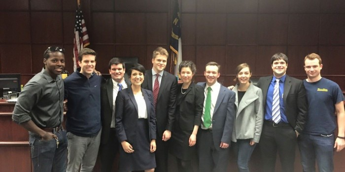 Group photo of Trial Advocacy Team AAJ Regional Champions
