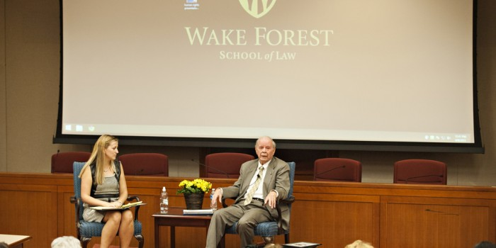 Group photo of Sarah Wheaton ('17) and Gene Boyce ('56)
