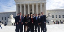 Group photo of Appellate Advocacy Clinic Spring 2015 SCOTUS visit