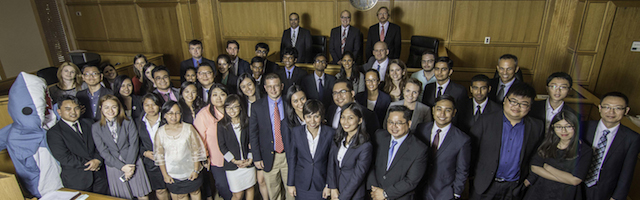 Group photo of Stetson Law international Environmental Moot Court Competition participants, 2014-15