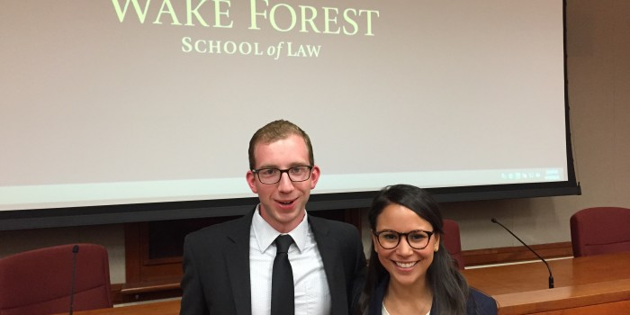 Group photo of Matt Cloutier ('17) and Elvira Nunez ('17)