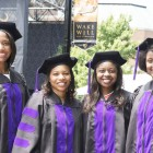 In photo above: (L-R) Jasmine Pitt, Bray Taylor, Elizabeth Bahati Mutisya and Gelila Selassie are award winners. They are members of the Wake Forest Law School, Class of 2015. (Photos by Erin Mizelle for the Winston-Salem Chronicle)