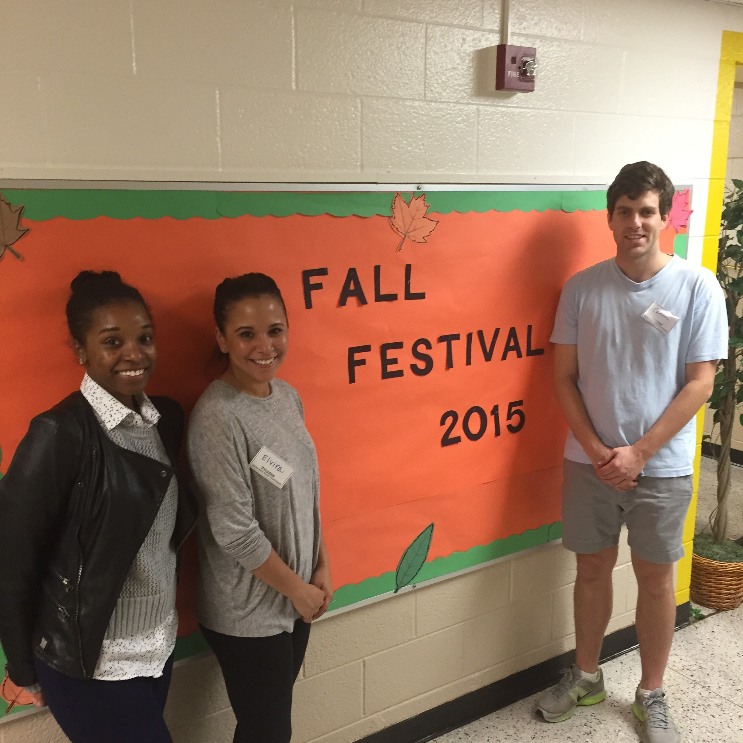 Group photo of law students volunteering at 2015 Kimberly Park Elementary Fall Festival