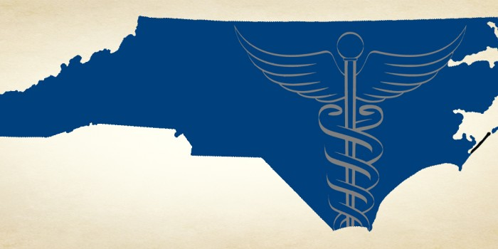 Graphic of NC and medical symbol