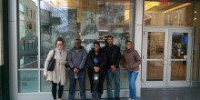 Group photo of students at the Civil Rights museum