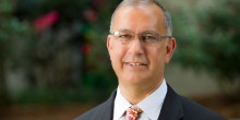 Photo of Professor Mark Rabil outside the Worrell Professional Center