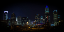 Photo of Charlotte, NC skyline at night
