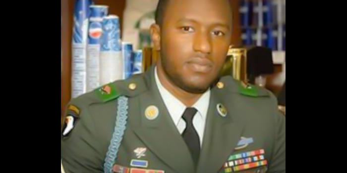 Photo of Harold Eustache, Jr. in military uniform