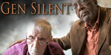 Photo of two men on film cover, 'Gen Silent'