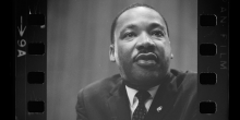 Photo of Martin Luther King Jr. on original film strip