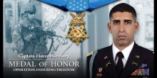 Photo of Captain Florent Groberg, Medal of Honor Recipient, Operation Enduring Freedom