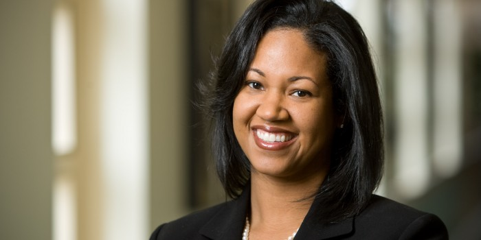 Photo of Wake Forest Law Professor Kami Chavis inside the Worrell Professional Center