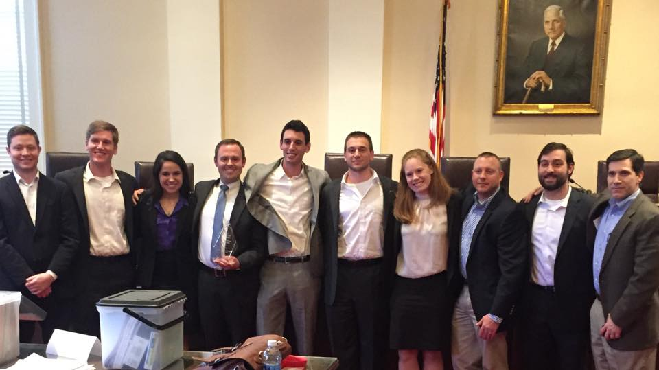 Photo of members of the National Trial Team, which won the regional competition and now moves on to nationals March 22-26.