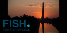 Photo of Lincoln Memorial with Fish & Richardson logo
