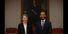 Photo of Ashley Bouchez (JD '19) and Jonathan Patton (JD '19)