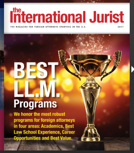 Photo of cover of International Jurist Spring 2017 issue