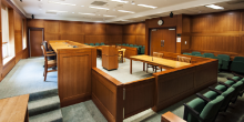 Photo of Wake Forest School of Law courtroom