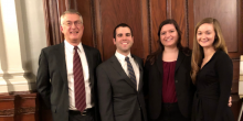 Photo of the Wake Forest School of Law Moot Court Team