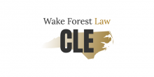 "graphic of words ""wake forest law CLE"" with state of NC"